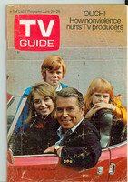1970 TV Guide June 20 To Rome With Love Wisconson edition Good to Very Good - No Mailing Label  [Heavy scuffing, creasing on cover; contents fine]