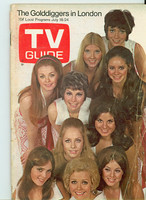 1970 TV Guide July 18 The Golddiggers Eastern Illinois edition Very Good - No Mailing Label  [Very loose at staples, heavy wear, creasing on cover; contents fine]