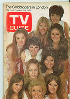 1970 TV Guide July 18 The Golddiggers Central Indiana edition Very Good - No Mailing Label  [sl tears at staples, scuffing and creasing on cover; contents fine]