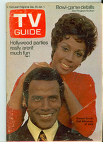 1970 TV Guide Dec 26 Julia Western Illinois edition Good to Very Good - No Mailing Label  [Wear and creasing on both covers; contents fine]