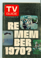 1971 TV Guide January 2 Remember 1970 Central California edition Very Good to Excellent - No Mailing Label  [Lt wear on both covers,  contents fine]