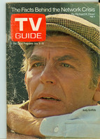 1971 TV Guide January 9 Andy Griffith Iowa edition Very Good to Excellent - No Mailing Label  [Lt wear, scuffing and lt creasing on cover; contents fine]