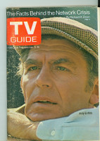 1971 TV Guide January 9 Andy Griffith Eastern New England edition Very Good - No Mailing Label  [Very loose at staples, lt wear on cover; contents fine]