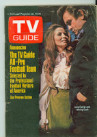 1971 TV Guide January 16 Johnny Cash Eastern Illinois edition Very Good - No Mailing Label  [Very loose at staples, lt wear, creasing on cover; contents fine]