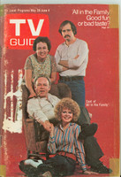 1971 TV Guide May 29 Cast of All in The Family (First Cover) Eastern Illinois edition Good to Very Good  [Sm tape on corners of cover; label removed, contents fine]