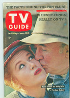1960 TV Guide Jan 23 The Real McCoys Philadelphia edition Good to Very Good - No Mailing Label  [Heavy large corner crease that impacts the entire book, contents readable]