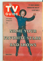 1960 TV Guide Feb 6 Have Gun Will Travel Cleveland edition Very Good - No Mailing Label  [Heavy wear on cover, sl creasing; contents fine]