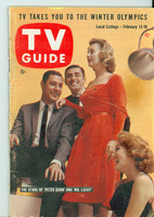 1960 TV Guide Feb 13 Cast of Peter Gunn and Mr Lucky Colorado edition Very Good to Excellent - No Mailing Label  [Lt wear on cover, contents fine]