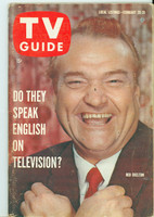 1960 TV Guide Feb 20 Red Skelton Pittsburgh edition Very Good to Excellent - No Mailing Label  [Heavy wear on cover, sl tear at one staple; contents fine]