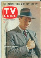 1960 TV Guide Feb 27 The Untouchables (First Cover) Nebraska edition Very Good - No Mailing Label  [Wear on cover, sl creasing; contents fine]