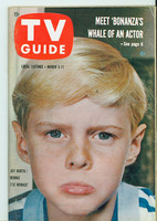 1960 TV Guide Mar 5 Dennis the Menace Pittsburgh edition Excellent - No Mailing Label  [Lt wear on cover, contents fine]