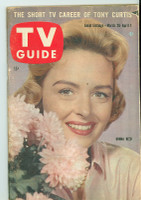 1960 TV Guide Mar 26 Donna Reed Eastern New England edition Good to Very Good - No Mailing Label  [Lt moisture staining throughout, contents fine]
