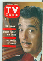 1960 TV Guide Apr 2 Tennessee Ernie Ford Philadelphia edition Excellent to Mint - No Mailing Label  [Very lt wear on cover, ow very clean]