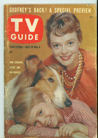 1960 TV Guide Apr 30 Lassie Southern Ohio edition Very Good - No Mailing Label  [Heavy scuffing along binding, ow clean]