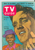 1960 TV Guide May 7 Elvis and Frank Sinatra Chicago edition Excellent - No Mailing Label  [Very light wear on cover, overall clean]