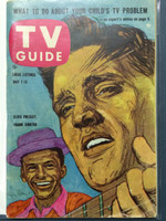 1960 TV Guide May 7 Elvis and Frank Sinatra Eastern New England edition Very Good to Excellent - No Mailing Label  [Lt wear on cover, creasing along bottom corner; contents fine]