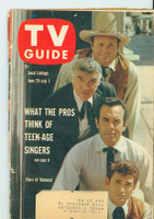 1960 TV Guide Jun 25 Bonanza (First Cover) Pittsburgh edition Very Good to Excellent  [Lt wear on cover, crn crease, ow clean]
