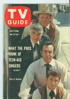 1960 TV Guide Jun 25 Bonanza (First Cover) Oregon State edition Excellent - No Mailing Label  [Lt wear on cover, year WRT in pencil in logo, ow very clean]
