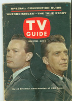 1960 TV Guide Jul 9 Huntley and Brinkley Iowa edition Good to Very Good - No Mailing Label  [Wear on cover, creasing; contents fine]