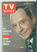 1960 TV Guide Jul 23 John Daly Chicago edition Good to Very Good - No Mailing Label  [Scuffing along binding, sl moisture on cover; contents fine]