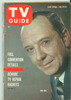 1960 TV Guide Jul 23 John Daly Southern Ohio edition Very Good - No Mailing Label  [Wear on cover, creasing; contents fine]