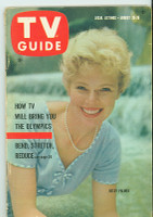 1960 TV Guide Aug 20 Betsy Palmer Southern Ohio edition Very Good - No Mailing Label  [Wear along binding, contents fine]