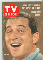 1961 TV Guide Jan 14 Perry Como Southern Ohio edition Very Good to Excellent - No Mailing Label  [Scuffing and creasing on cover; contents fine]