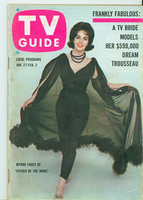 1962 TV Guide Jan 27 Father of the Bride Oregon State edition Very Good to Excellent - No Mailing Label  [Lt wear and toning on cover, # WRT in pencil in logo; contents fine]