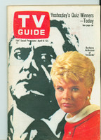1968 TV Guide Apr 6 Barbara Anderson of Ironside Central California edition Excellent to Mint - No Mailing Label  [Lt wear on cover, ow clean]