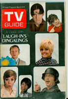 1969 TV Guide Mar 8 Laugh-In cast Eastern Illinois edition Excellent - No Mailing Label  [Lt wear on cover, ow clean; contents fine]