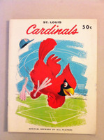 1958 Cardinals Yearbook (from the Red Schoendienst collection) Near-Mint
