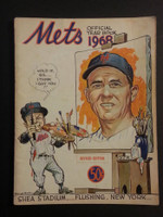 1968 Mets Yearbook Revised (1 Photo Clipped Out) Fair to Poor