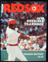 1978 Red Sox Yearbook Revised Excellent to Mint