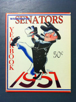 1957 Senators Yearbook (50 pg) Near-Mint Very sl bend on upper corner, ow like new