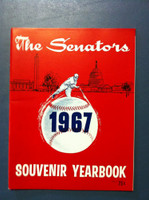 1967 Senators Yearbook (50 pg) Near-Mint to Mint Very sl bend on upper corner, ow like new