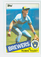 1985 Topps Baseball 340 Robin Yount Milwaukee Brewers Near-Mint to Mint