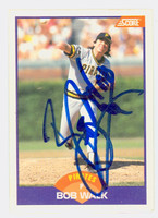 Bob Walk AUTOGRAPH 1989 Score Pirates 