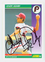Andy Ashby AUTOGRAPH 1992 Score Phillies 