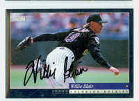 Willie Blair AUTOGRAPH 1994 Score Rockies 
