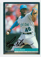 Ryan Bowen AUTOGRAPH 1994 Score Marlins 