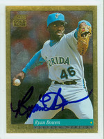 Ryan Bowen AUTOGRAPH 1994 Score Gold Rush Marlins 