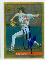 Greg Harris AUTOGRAPH 1994 Score Gold Rush Red Sox 