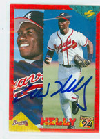 Mike Kelly AUTOGRAPH 1994 Score Braves 