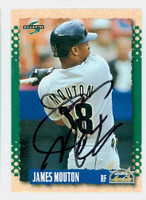 James Mouton AUTOGRAPH 1995 Score Astros 