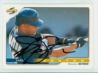 James Mouton AUTOGRAPH 1996 Score Astros 