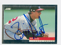 Bill Pecota AUTOGRAPH 1994 Score Braves 