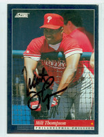 Milt Thompson AUTOGRAPH 1994 Score Phillies 