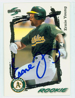 Ernie Young AUTOGRAPH 1995 Score Athletics 