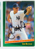 Sam Militello AUTOGRAPH 1992 Score Select Yankees 