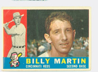 1960 Topps Baseball 173 Billy Martin Cincinnati Reds Fair to Good